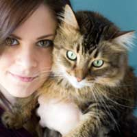 Cat and human